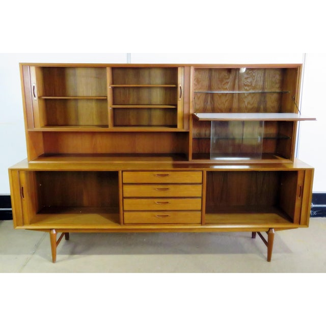 Mid Century Italian Teak Sideboard / Credenza For Sale - Image 9 of 12