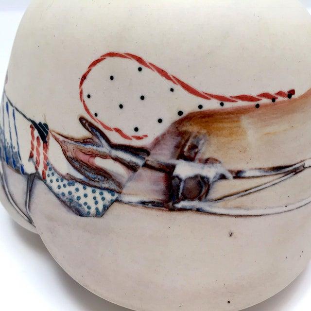 Late 20th Century Fine Art Contemporary Ceramic Vessel - Image 9 of 13
