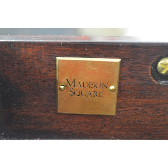 Madison Square Stickley Federal Style Mahogany Inlaid Silver Chest on Chest For Sale In Philadelphia - Image 6 of 8