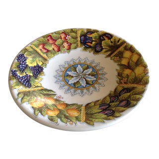 Deruta Italian Handpainted Large Charger For Sale