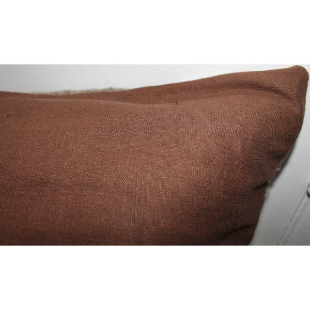 Textile Mexican Indian Weaving Geometric Bolster Pillow For Sale - Image 7 of 8