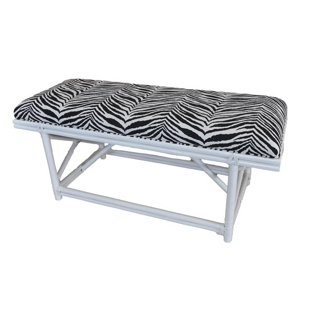 Ficks Reed Zebra Bench - Image 2 of 4