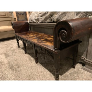 Early 19th Century Victorian Era Roll Top Bench Preview