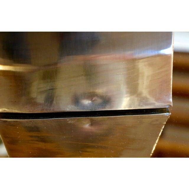 James Johnston Brass Modernist Vase For Sale In Palm Springs - Image 6 of 8