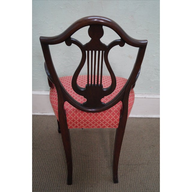 Mahogany Adams Carved Shield Back Chairs - A Pair - Image 4 of 10