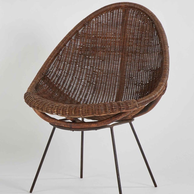 1900 - 1909 Mid-Century Bamboo and Rattan Chairs From France - a Pair For Sale - Image 5 of 6