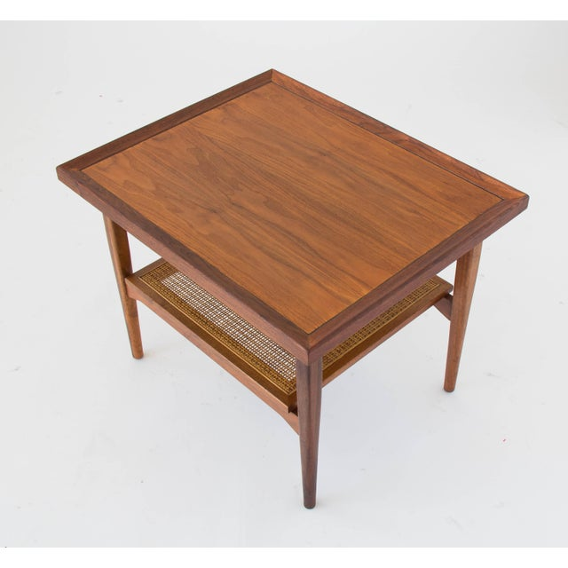 Mid-Century Modern Drexel Declaration Side Table with Cane Shelf For Sale - Image 3 of 8
