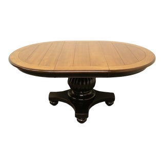 "Hooker Furniture Indigo Creek Collection 48"" Round Two Tone Pedestal Dining Table 332-75-001 For Sale"