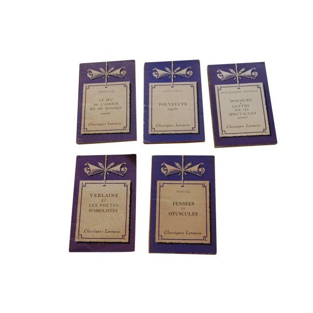 Classiques Larousse Purple Books - Set of 5 For Sale