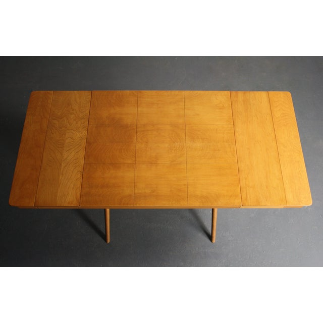 Walnut Dining Table X Base, Manner of Widdicomb For Sale - Image 4 of 10