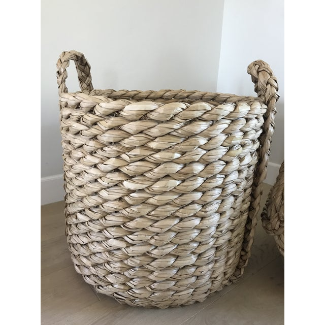 Raquel Round Baskets - A Pair For Sale In Los Angeles - Image 6 of 8