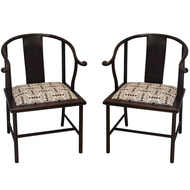 20th Century Asian Modern Smith & Watson Horseshoe Chairs - a Pair For Sale