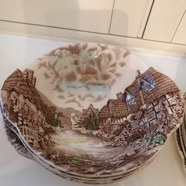 Johnson Brothers 1960s Vintage Johnson Bros Olde English Countryside Serving Set - 17 Pieces For Sale - Image 4 of 13