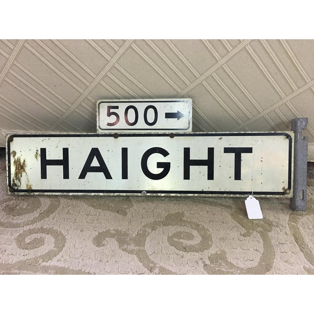 1970s Haight Street 500 Block Metal Sign - Image 3 of 6