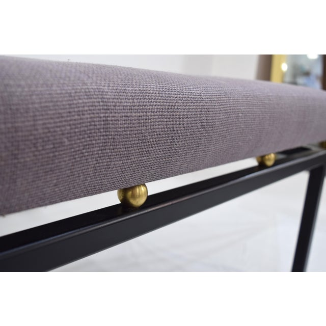 Custom CF MODERN Brass Ball Foot Bench - Image 7 of 11