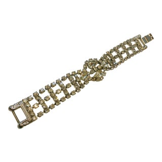 1950s Crystal Embellished Bracelet For Sale