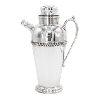 1930s Art Deco Silver Plate Cocktail Shaker For Sale