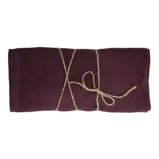 Aubergine Linen Runner For Sale