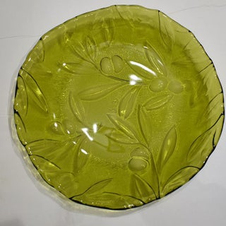 Early 20th Century Murano Green Art Glass Italian Service Dinnerware Plate Set - Set of 28 Preview
