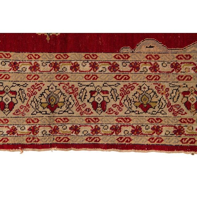 Tan Antique Persian Kerman Rug 3'6'' X 5'2'' For Sale - Image 8 of 13