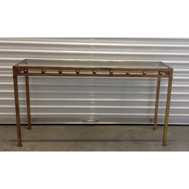Vintage Gilt Metal Console Table - Image 2 of 5
