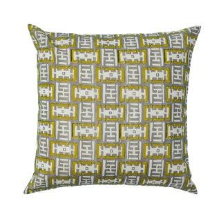Contemporary Ferrick Mason Mr. Rowe Custom Outdoor Grass/Fog Pillow For Sale