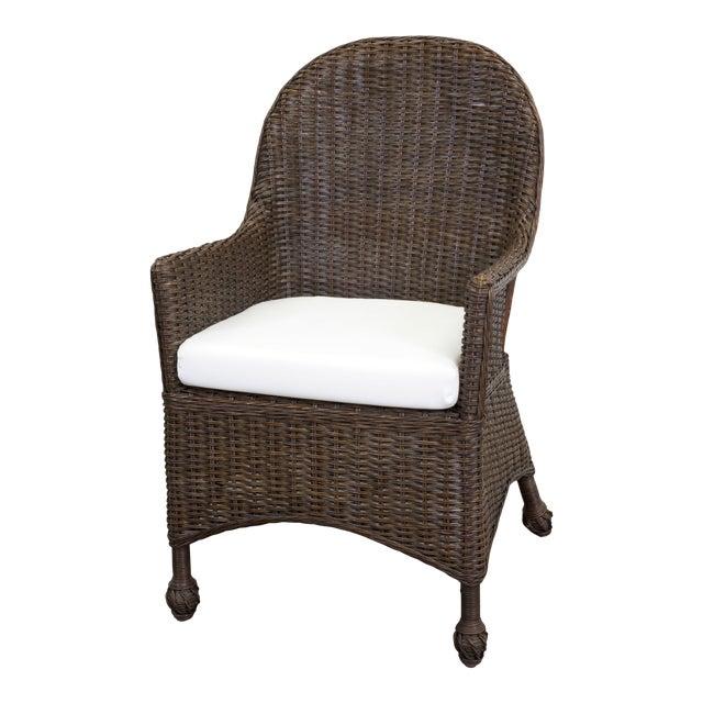 Eastern Shore Host Chair, Dark Walnut For Sale