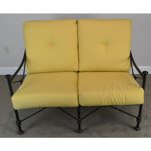 Giacometti Style Patio Love Seat by Winston For Sale - Image 4 of 13