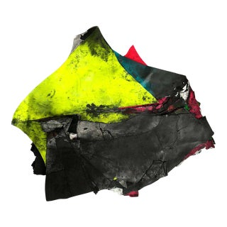 """Contemporary Abstract Fluorescent Mixed Media Painting """"Afghan Dreadnought Kite"""" by Wesley Kimler For Sale"""