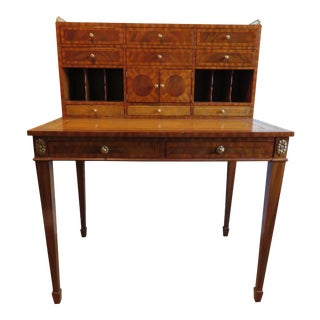1990s Maitland-Smith Regency Style Writing Desk For Sale