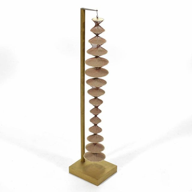 Abstract Geometric Sculpture in Steel and String For Sale - Image 9 of 9