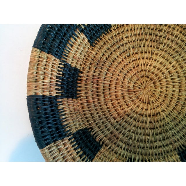 Handwoven African Catch All Boho Chic Basket - Image 6 of 8