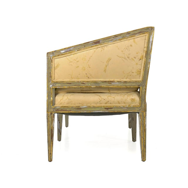 A picture of simplicity and angularity, this Italian Neoclassical settee is a product of the first quarter of the 19th...
