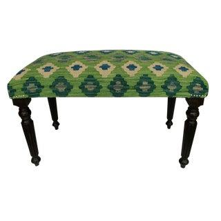 Dorcas Green/Blue Handmade Kilim Upholstered Settee