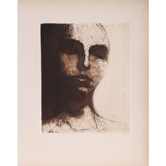 Sleeping Portrait - Unframed Etching For Sale