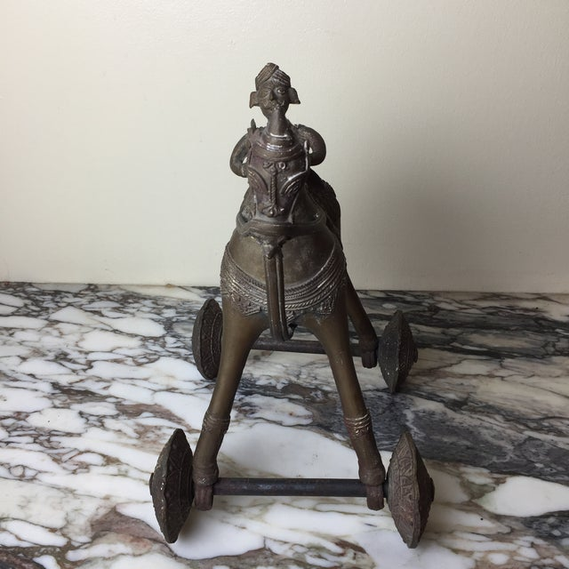 Vintage Bronze Statue of King on Horse For Sale In Los Angeles - Image 6 of 9