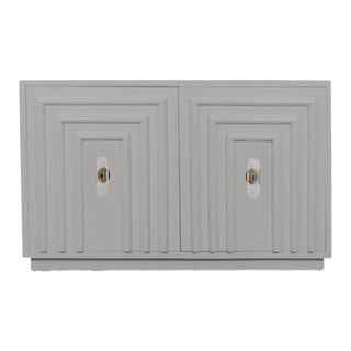 Mod Shop Art Deco 2 Door Cabinet in Grey For Sale
