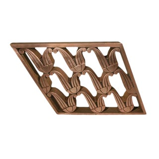 Art Deco Copper Railing [Angled Section] For Sale