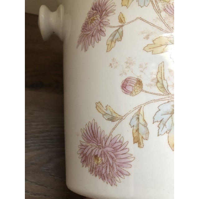 Johnson Brothers Floral Porcelain Planter From England 1910-30's For Sale - Image 4 of 5