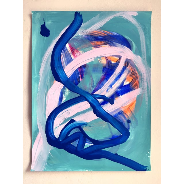 Part of Jessalin Beutler's personal project, Art Every Day 2017. Acrylic on paper, signed and dated. Ships flat with...