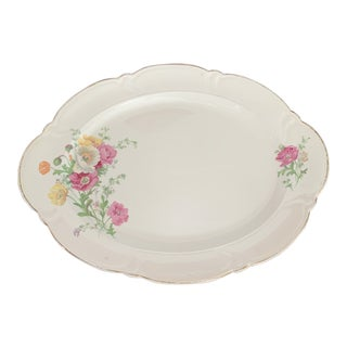 Vintage 1930s TST Co. Floral Platter For Sale