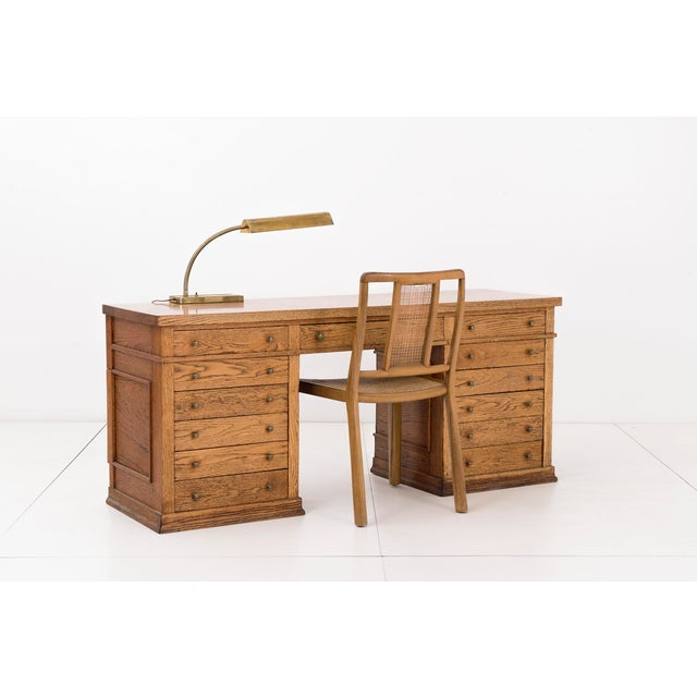 Frank Lloyd Wright Pedestal Desk from Frank L. Smith Bank - Image 2 of 10