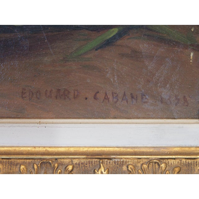 Canvas 19th Century French Still Life Painting by Edouard Cabane For Sale - Image 7 of 9