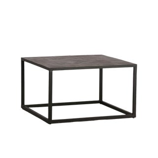 Square Lava Tile Coffee Table For Sale