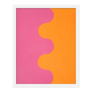 "Small ""Hairpin Serpentine in Orange & Pink"" Print by Stephanie Henderson, 16"" X 20"""