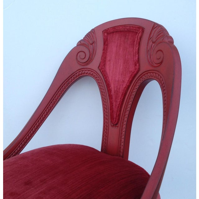Michael Taylor for Baker Red Spoon Back Chair - Image 8 of 11