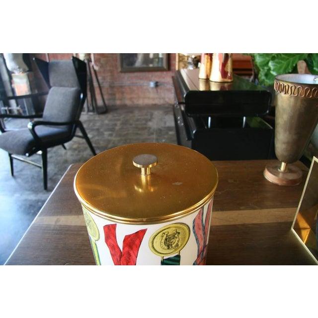 Italian Piero Fornasetti Ice Bucket For Sale - Image 3 of 8