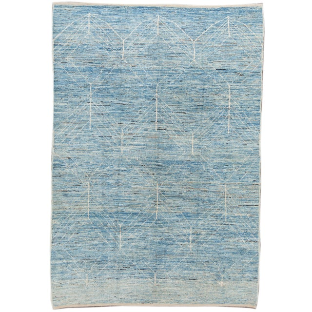 """21st Century Modern Moroccan-Style Rug, 7'0"""" X 10'0"""" For Sale - Image 11 of 11"""