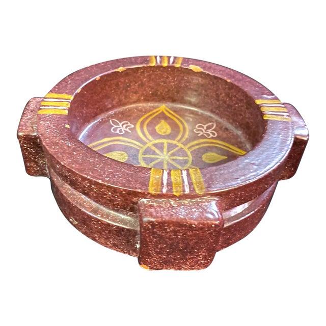 Mid-Century Spanish Alfaraz Pottery Catchall For Sale