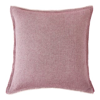 Brentwood Square Pillow, Burgundy For Sale